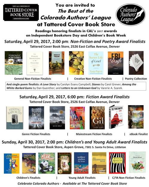 Tattered Cover Poster 2017 CAL Awards Finalists